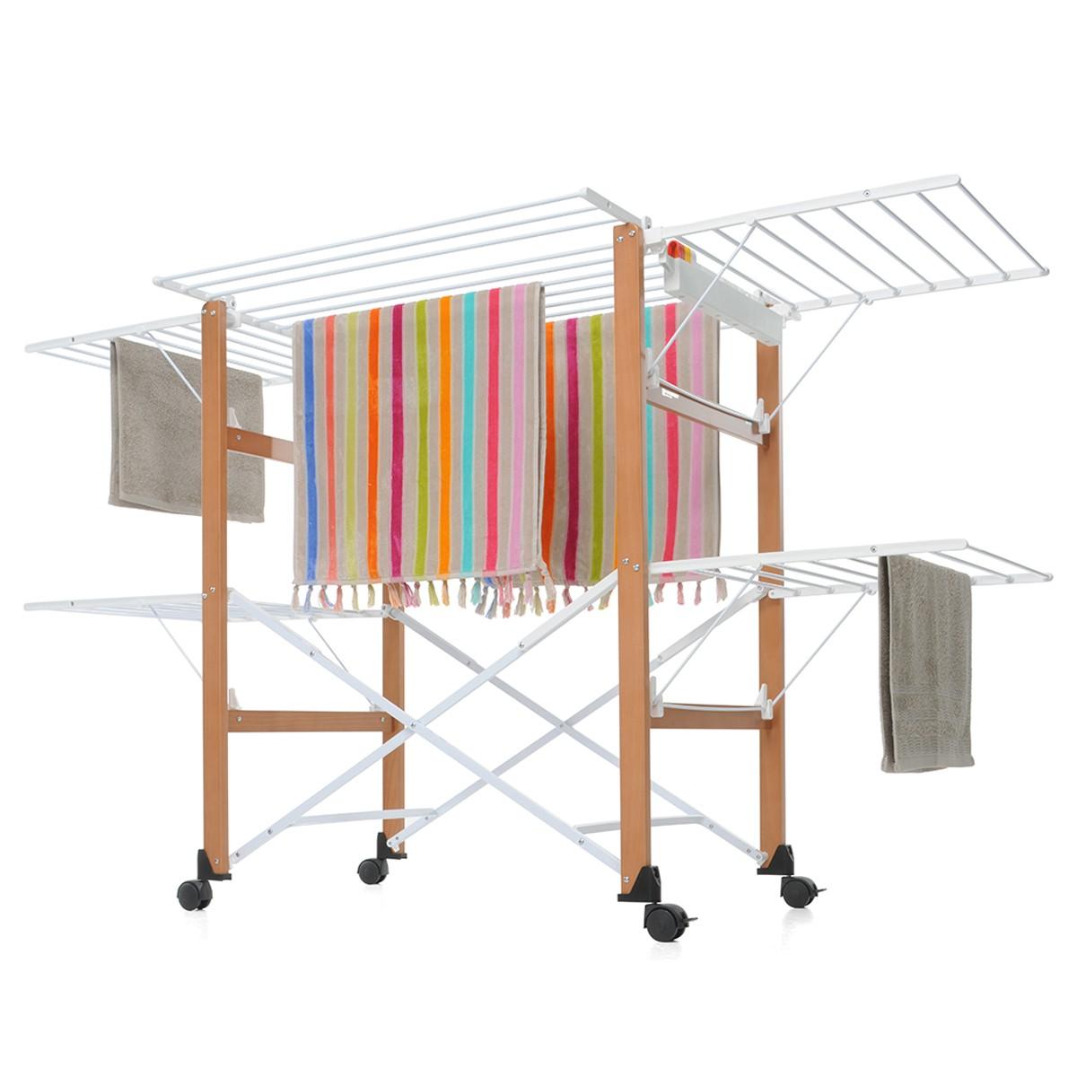イタリア・フォッパぺドレッティ(FOPPAPEDRETTI) 木製折りたたみ式物干し Gulliver 送料無料 物干しスタンド 室内 イタリア家具 イタリア製