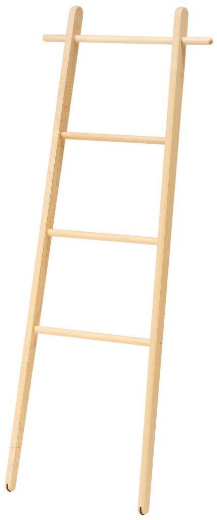 NEW!旭川のクラフト工房 cosine(コサイン)ラダーラックDR-13CM 壁に立て掛けるタイプの木製ドレスラック (ウッドラック) 送料無料 【旭川家具】