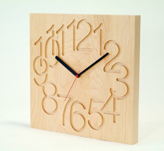 Asahikawa craft workshop cosine (cosine) MUKU clock (large) maple wood CW-09CM wood wall clocks ( clock )