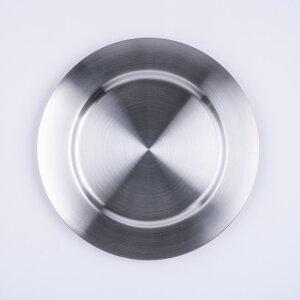 CASUAL PRODUCT オックスフォード ラウンドプレート サテン 230mm 食器 おしゃれ 洋風 洋食器 シンプル ワイルド 高級感 上品 カフェ アウトドア bbq キャンプ プレゼント ギフト 贈り物 青芳 青芳製