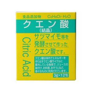 《大洋製薬》 食品添加物 クエン酸分包 3g×12包