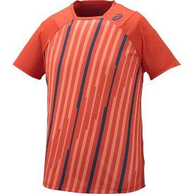 【数量限定生産】アシックス(asics)ATHLETE SS TOP(130224)0172:オレンジストライプ●テニス/ゲームシャツ(1602)16ss【SS1909】【DEAL】【P50904】