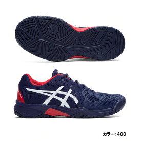 アシックス(asics) GEL-RESOLUTION 8 GS テニスシューズ ジュニア (20ss) ピーコート/クラシックレッド オールコート/ハードコート 1044a018-400