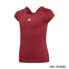 アディダス(adidas) TENNIS GIRLS RIBBON TEE ガールズ リボン Tシャツ シャツ ジュニア (19fw) カレッジエイトバーガンディ fuc80-ec3564