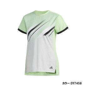 アディダス(adidas) CCTCLUB W TEE シャツ レディース (19fw) グローグリーン fws44-dy7458