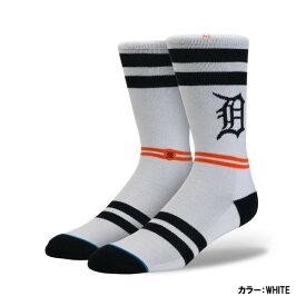 スタンス(STANCE) DETROIT TIGERS タイガース ソックス メンズ WHITE ホワイト 25.5-29.0cm m558a16dtg-white