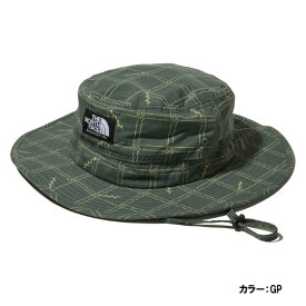 ザ・ノースフェイス(THE NORTH FACE) ノベルティホライズンハット 帽子 ユニセックス (19ss) グリーンペグチェック 紫外線カット nn01708-gp 【特価】【SS1912】