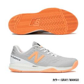 ニューバランス(Newbalance) テニスシューズ シューズ レディース (19fw) GRAY/MANGO グレー×マンゴー オールコート D 標準 wch796t1d【P50904】【SS1912】