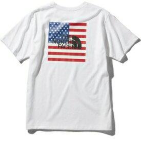 ザ・ノースフェイス(THE NORTH FACE) Tシャツ ショートスリーブナショナルフラッグティー S/S National Flag Tee メンズ (20ss) ホワイト NT32053-W【ss2103】