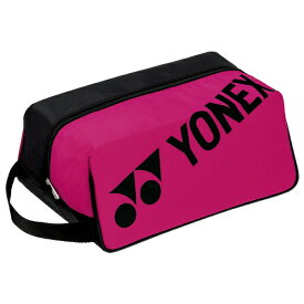 ヨネックス(YONEX)テニス シューズケース (20ss)ブラック×ローズピンク BAG1933-747【ss2103】