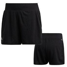 アディダス(adidas) クラブ ハイライズ ショーツ CLUB HI-RISE SHORTS レディース (20ss) ブラック×マットシルバー GLF79-FK0746