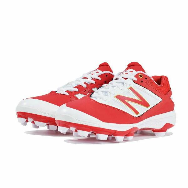【特別価格5800円】ニューバランス(new balance) 野球用スパイクレッド 靴幅: D(やや細い)ポイントスパイク 固定式【野球スパイク】(PL4040R3D)