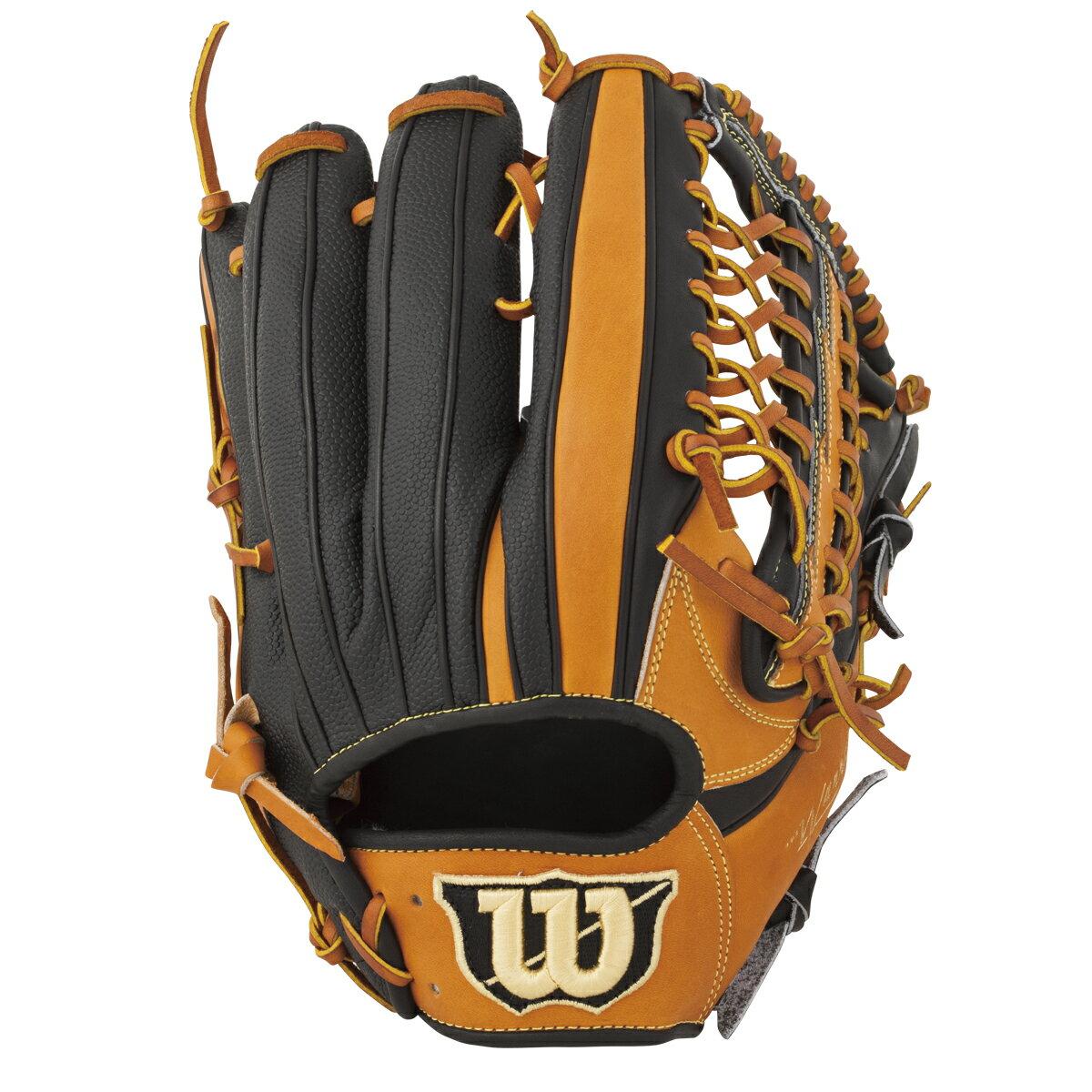 ウイルソン(wilson)Wannabe HERO/DUAL(ワナビーヒーローデュアル)軟式野球用 外野手用グラブ(右投げ)(18ss) オレンジ×ブラック WTARHRD8F-8390SS 野球用品