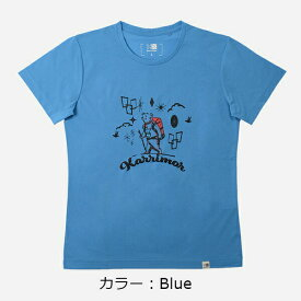 カリマー(karrimor) illustration T vol2 (woman) Tシャツ (19SS) ブルー 2382-Blue