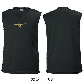 ミズノ(MIZUNO) インナーシャツ シャツ (19ss) ブラック*ゴールド P2MA809009