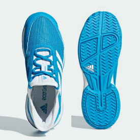 アディダス(Adidas) テニスシューズ ADIZEROCLUB K ジュニア (19ss) ショックシアン×ホワイト ブルー CG6451【P8T】【P50904】
