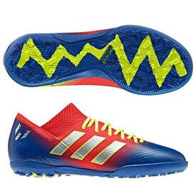 アディダス(adidas) ジュニアサッカースパイク ネメシス メッシ 18.3 TF J ジュニア (19ss) シューズ レッド×シルバー×ブルー CM8636【P10】【ss2103】