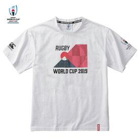 ラグビーワールドカップ2019(TM)日本大会 カンタベリーオフィシャルライセンス商品 カンタベリー(canterbury) RWC2019 GRAPHIC TEE Tシャツ (19ss) ホワイト VWD39422-10