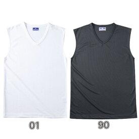 【3%OFFクーポン発行中】【あす楽】 インナーシャツ SPEEDWIN(スピードウィン) ノースリーブシャツ メンズ ジュニア ホワイト/ブラック 130-160 S-XL 無地 sw-1317【即納可能】