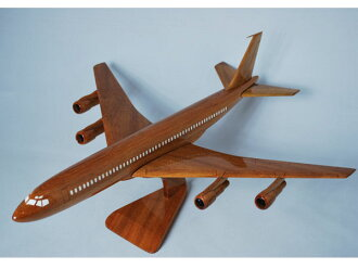 Hand made wooden model airplane Boeing B707 PLA-049 * model *