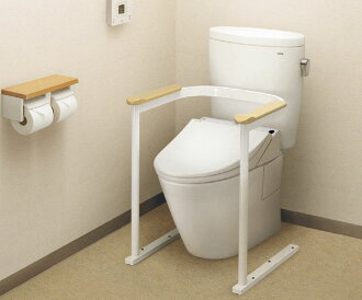 Toilet handrail armrests, natural wood EWC210R