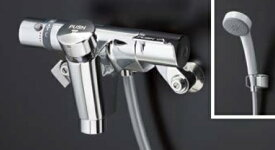 TOTOTTMF49E4R自閉式壁付サーモスタット混合水栓シャワー側オートストップ吐水口側オートストップ洗い場専用