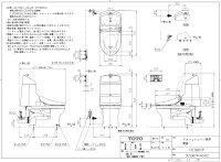 【送料無料】TOTOウォシュレット一体形便器HV廉価タイプ大洗浄6L小洗浄5LCES967P【手洗付床上排水、排水高さ120ミリ】北海道、沖縄県、各県の離島は実費送料