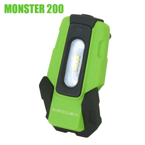 モンスター200 LEDハンドランプ 充電式リチウムイオンバッテリー内蔵 MARVELLOUS