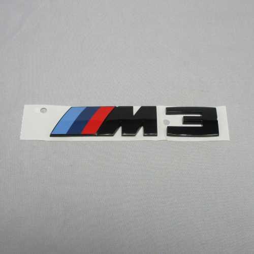 """BMW純正 """"M3"""" エンブレム(ブラック)"""