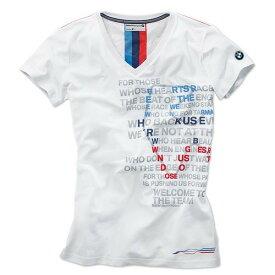 BMW純正 グラフィック・Tシャツ (レディース)(ホワイト)(サイズ:XS/S/M/L/XL)