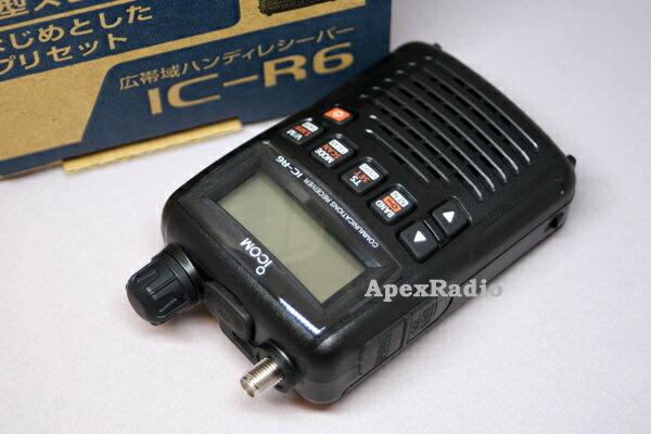 【SP】 IC-R6 広帯域受信機 (受信改造済)  アイコム ハンディレシーバー (ICR6)