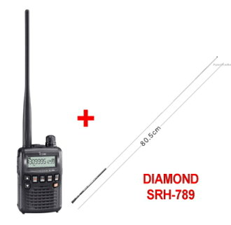 IC-R6 + SRH789 eye com broadband handy receiver + rod antenna set (ICR6 + SRH-789)