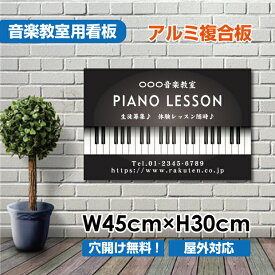 【送料無料】ピアノ教室 習い事看板ピアノ 教室 ピアノ看板 ピアノ教室看板 可愛い オシャレ 人気 子供 選べる完全オリジナル♪横450×縦300mm piano-008-45