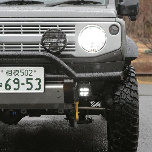 ジムニーJB64,ジムニーシエラJB74しし狩りバンパー用IPF2inchドライビングランプステー