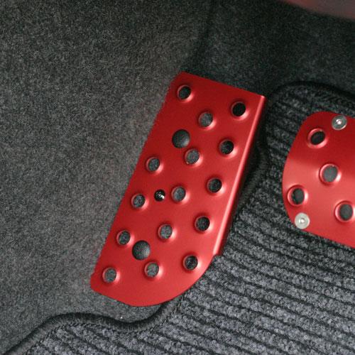 【SALE】AT車用ドライバー用フットレストカラーアルマイト(シルバー/レッド/ブルー/オレンジ/ブラック)