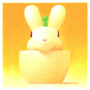 渡辺 宏 絵画・アート(版画)/二人の約束/ウサギ・うさぎ