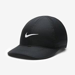 帽子 キャップ キッズ ジュニア 男の子 女の子 子ども ナイキ NIKE YTH フェザーライトキャップ アジャスタブル スポーツ 普段使い 熱中症対策 日差し対策 子供用 ロゴ ぼうし ブラック 黒 ワン