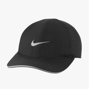 ランニングキャップ 帽子 メンズ レディース/ナイキ NIKE DRI-FIT エアロビル フェザーライト リフレクティブ/マラソン ジョギング 黒 ブラック ぼうし/DC3598-010【取寄】