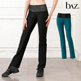 NAWA b∧z(バズ) 骨盤サポートストレートパンツ レディース 健康体操 ウォーキング ファッション S/M/L/LL ブラック/ダークブルー