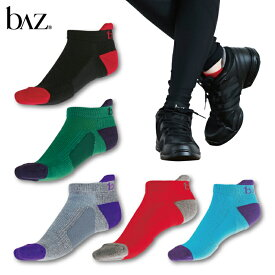 NAWA b∧z(バズ) 着圧アンクルソックス(足底サポート付) レディース ソックス フィットネス ヨガ ダンス ランニング ファッション 23〜25 ブラック/グリーン/レッド/ターコイズブルー