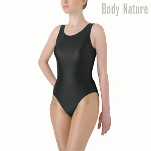 NAWA BodyNature(ボディネイチャー) ノースリーブレオタード(パンチ付き) 5ch レディース 健康体操 ファッション M/L/LL ブラック