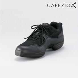 CAPEZIO(カペジオ) ダンススニーカーローカット ダンス ジャズ ヒップホップ チア サルサ エクササイズ フィットネス スプリット シューズ 25.5〜30.5 ブラック
