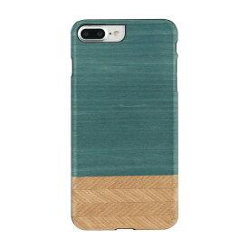 スマホ ケース 送料無料 iPhone7 Plus iPhone8 Plus 天然木ケース Man & Wood Denim (マンアンドウッド デニム)アイフォン カバー 木製