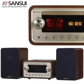 SANSUI サンスイ 真空管 ハイブリッドアンプ 搭載 CD ステレオシステム コンポ SMC-300BT Bluetooth (M)