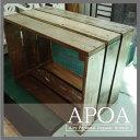 APOAアンティーク風 キャベツボックス Lサイズ 古材Mix≪インテリア/雑貨/アンティーク風/家具/ジャンク/リサイクルウッド/ウッドボックス≫