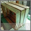APOAアンティーク風 キャベツボックス Mサイズ 古材Mix≪インテリア/雑貨/アンティーク風/家具/ジャンク/リサイクルウッド/ウッドボックス≫
