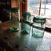 アンティークブルーボトル雑貨イギリス製ガラスブロカントインテリア