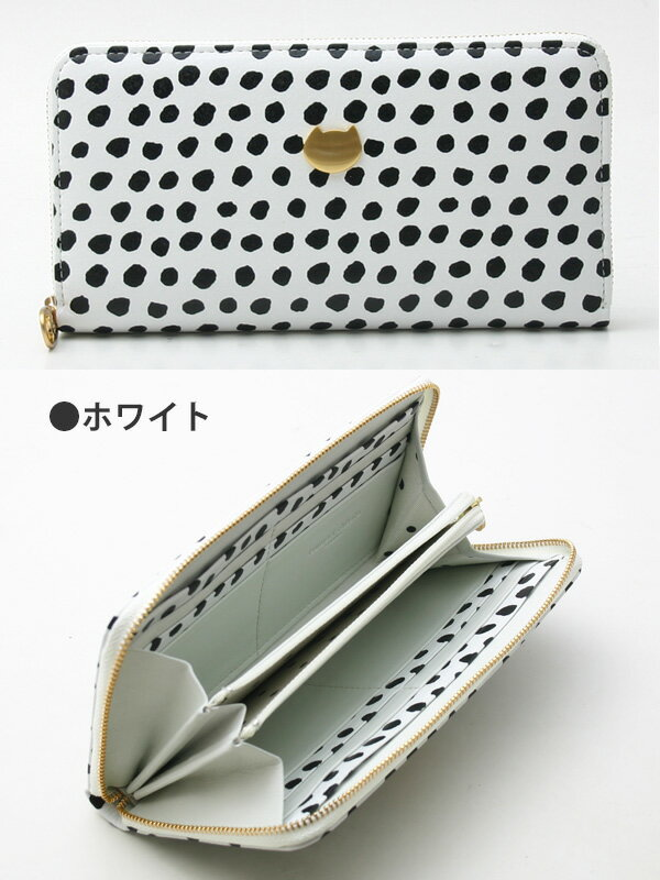 ツモリチサト 財布 手描きドットラウンドファスナー長財布ツモリチサト キャリーtsumori chisato CARRY 57253