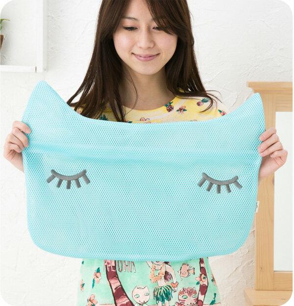 ワコール ツモリチサト スリープ【tsumori chisato SLEEP】猫顔洗濯ネット(大)UEX504