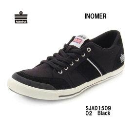 アドミラル SJAD1509 02 イノマー ブラックレディース メンズ ユニセックス Admiral INOMER Black靴 スニーカー モノトーン ローカットシューズ